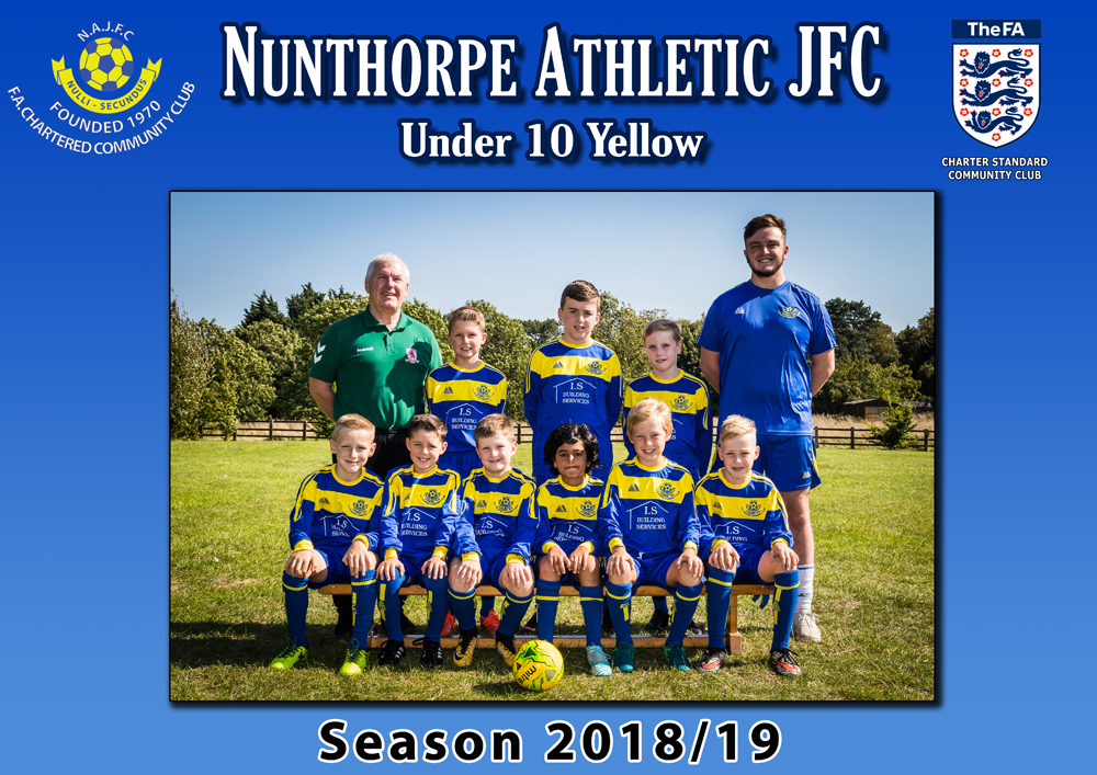 under 10 yellow football at nunthorpe athletic jfc